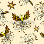 Phoenix Seamless Vector Pattern Design