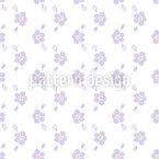 Hand Gezeichnete Blüte Rapportiertes Design
