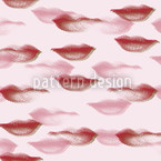 Terror Lips Seamless Vector Pattern Design