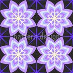 Geometrische Achteckige Blume Nahtloses Muster