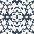 Geometric Retro Blossom Seamless Vector Pattern