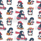 Kleine Pinguine Vektor Muster