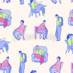 Menschen Musterdesign