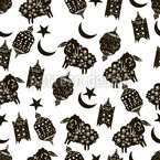Islamischer Feiertag Nahtloses Vektormuster