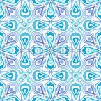 Symmetrische Tropfen Nahtloses Vektormuster