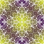 Arabeske Orientalische Blume Rapportmuster