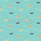 Boote und Flaggen Vektor Ornament