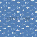 Funny Fish-World Seamless Pattern