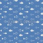 Lustige Fischwelt Nahtloses Muster