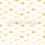 Cartoon Fishes Vector Pattern