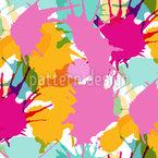 色付きブロット シームレスなベクトルパターン設計