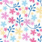 Stilisierte Blume Nahtloses Vektormuster