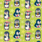 Penguin Summer Pattern Design