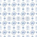 Geschenke und Schneeflocken Vektor Muster