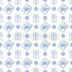 Gifts And Snowflakes Vector Pattern