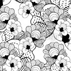 Magic Flowers Seamless Vector Pattern Design
