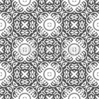 Floral Buttons Vector Pattern