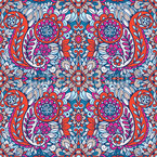 Colorful Paisley Print Seamless Vector Pattern Design