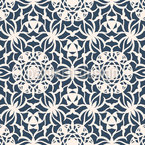 Geometrische Blumen-Ornamente Nahtloses Vektor Muster