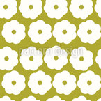 Minimalistic Flower Vector Pattern