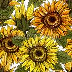 Sonnenblumen Thanksgiving Nahtloses Vektormuster