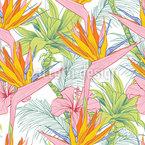 Hawaiischer Paradiesvogel Rapportmuster