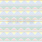 Abstrakte Afrikanische Linien Vektor Ornament