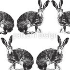 Hare Hunting Seamless Vector Pattern Design