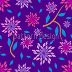 Edged Flowers Seamless Vector Pattern