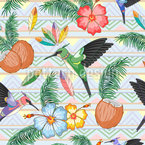 Kolibri-Tanz Nahtloses Vektormuster