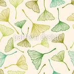 Ginko Blätter Nahtloses Vektormuster