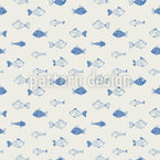 Fish Business Seamless Vector Pattern