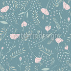 Ethereal Poppies Vector Pattern