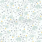 Ethereal Daisies Repeating Pattern