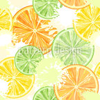 Citrus Party Seamless Vector Pattern Design