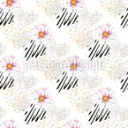Wildblumen-Animal-Print Nahtloses Vektormuster