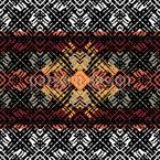Ethnischer Rhythmus Rapportiertes Design