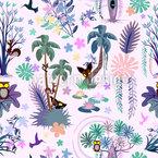 Verzauberter Dschungel Nahtloses Vektormuster
