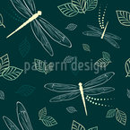 Dragonflies And Leaves Vector Design