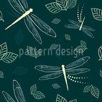 Libellen und Blätter Vektor Design