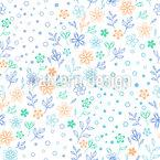 Blüten und Kreise Nahtloses Vektormuster