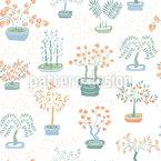 Japanische Pflanzen Nahtloses Vektormuster
