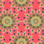 Latin Flower Seamless Vector Pattern Design