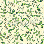 Stilisierter Garten Nahtloses Vektormuster