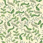 Stylized Garden Seamless Vector Pattern Design