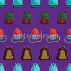 School Bag Seamless Vector Pattern Design