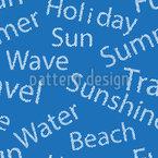 波打つ夏 シームレスなベクトルパターン設計