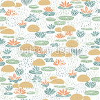 Lotus Garden Seamless Pattern
