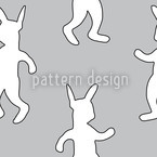 Rabbit Dance Softrock Seamless Vector Pattern Design