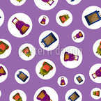 School Bags In Bubbles Seamless Vector Pattern Design